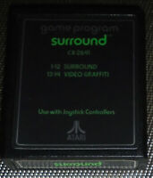 Atari 2600 Surround Game Cartridge Only, Clean, FULLY TESTED! Both Labels! SOLID