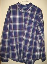 American Eagle Purple Plaid Button Down Collar Cotton LS Shirt 3XL EUC