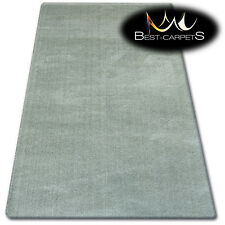 """AMAZING SOFT & THICK RUG SHAGGY """"MICRO"""" Polyester Green HIGH QUALITY carpets"""