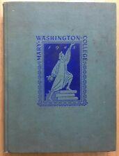 1943 MARY WASHINGTON COLLEGE YEARBOOK, THE BATTLEFIELD, FREDERICKSBURG, VA