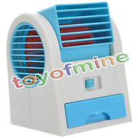 Mini ventilador refrigeración dual USB sin cuchilla aire acondicionado portátil