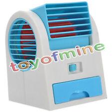 Mini Petit Ventilateur Portable Bureau double sans lame Climatiseur USB New