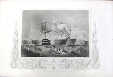 Napoleonic Wars NAVY BATTLE OF TRAFALGAR NELSON DIES ~ 1853 Art Print Engraving