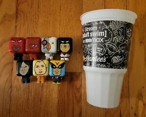 Hardee's Adult Swim 99% Full Collection 7 Toys Missing Super Rare Hardee's Star