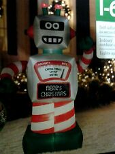 Airblown Animated Christmas Robot Inflatable 6 Foot Tall New