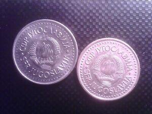 YUGOSLAVIA   2 DINAR   1985    10 DINARA  1987       SEP28