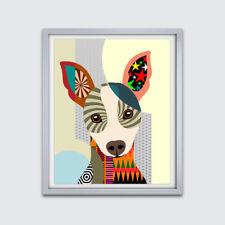 Art Rat Terrier Dog Pop Pet Poster Animal Lover Print Puppy Portrait Painting