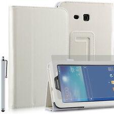 Funda para Samsung Galaxy Tab 3 Lite (T110) - 7'' - Blanco + lápiz + protector