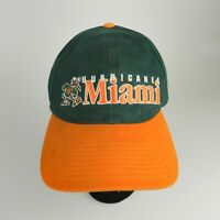 Vtg 90s Twins Enterprise Miami Hurricanes NCAA Strapback Baseball Hat Cap OS