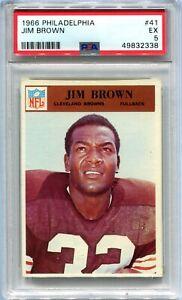 1966 Philadelphia 41 Jim Brown PSA 5 EX