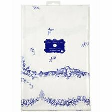 TALKING TABLES PARTY PAPER TABLE COVER BLUE & WHITE TABLECLOTH SQUARE CLOTH