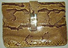 VINTAGE SUSAN GAIL GENUINE Snake Skin Shoulder Bag / Clutch - MADE IN SPAIN