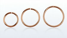 1 Rose Gold Plated Seamless  Hoop Ring 20g Nose Lip Ear  Choose 6mm 8mm #R6