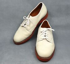 MINTY 8.5 D COLE HAAN VTG/USA BONE NUBUCK DERBY CLAY SOLE MENS OXFORD SHOES