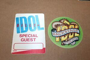 Billy Idol  - 2 x Backstage Pass unused  - Lot # 3  - FREE POSTAGE