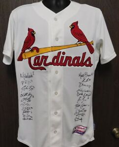 St. Louis Cardinals 2017 Team Signed Authentic Jersey JSA Authenticated