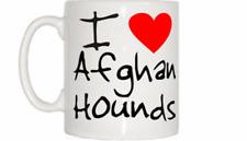 I Love Heart Afghan Hounds Mug