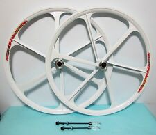 "29"" ALL-WHITE NEW Mag Alloy 8/9/10 Gear MTB Rims (F&R), DISC  BRAKE ONLY"