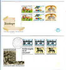 NEDERLAND FDC E144, E153 KINDERBLOCK CW €80  PR EX