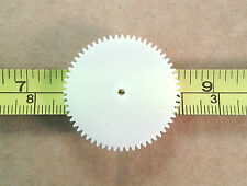 Qty 10 : 60 Tooth 31mm Plastic Gear Cog Wheels for 2mm Model Gearbox Shaft