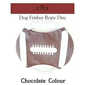 Frisbee Dog Toy 2 Pcs Frisbee Rope Disc Outdoor Play Good Quality Durable Rope
