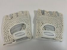 Vintage Medium Fingerless White/Grey Sport Gloves. New Old Stock. Cycling/Gym