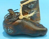 JAN BARBOGLIO Baby Foot sculpture CAST IRON PAPERWEIGHT / BABY GIFT