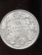1918 Canada Silver 50 Cents F  MP537