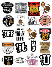 Hard Hat Stickers and Helmet Decals (Pack of 20) Made in the USA