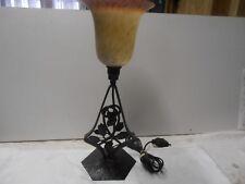 LAMPE DE BUREAU  OPALINE  FER FORGE 1900 ART NOUVEAUX