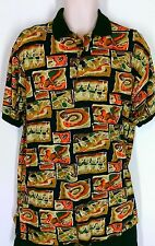 Sauce by Berne Mens Medium Polo Style Short Sleeve Button Collar Shirt Tall