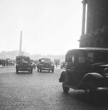 PARIS c. 1946 - Autos Circulation Place de la Concorde - Négatif 6 x 6 - N6 P31