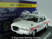 FORD CORTINA MK2 MODEL CAR POLICE HAMPSHIRE 1:43 SCALE CORGI VANGUARDS ATLAS K8