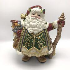 "Fitz And Floyd ""Jolly Ole St. Nick/Santa"" Ceramic Teapot,Christmas/Holiday Decor"