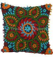 Large Suzani Euro Sham Pillow Cases Decorative Embroidery Square Cushion Covers