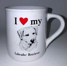 """Rare! I """"Love"""" MyLabrador Retriever Mug Lab Coffee Cup made for PAPEL"""