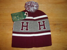 Harvard Crimson Cuffless Beanie Pom Winter Hat Cap NWT Free Ship!