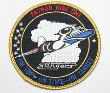 Stingers - Patron Nine One - On Top - On Time - On Target - Embroidered Patch