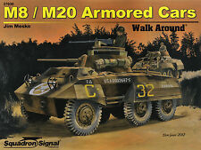205q/Squadron signal-walk around 30-m8/m20 Armored Cars-Topp cuaderno
