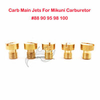 Carby Main Jets Large Round For Mikuni Carburetor #88 #90 #95 #98 #100 Dirt Bike