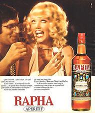 PUBLICITE ADVERTISING 114  1975  RAPHA  apéritif de RIVESALTES