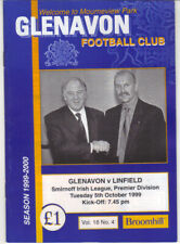 1999/2000 Glenavon v Linfield - Irish League - 5th Oct - Vol 18 No 4