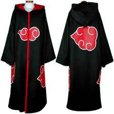 Anime Naruto HOODED CLOAK Cosplay Costume Akatsuki Taka/Hebi Hawk Uniform Sasuke