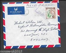 JAMAICA 1960 COMMERCIAL COVER TO UK . UP PARK CAMP PURPLE CANCEL MAJOR G-SMITH