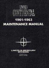 1961 1962 1963 Lincoln Continental Shop Service Repair Manual