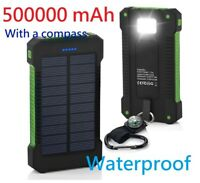 Waterproof 500000mAh Dual USB Portable Solar Battery Charger Solar Power Bank G