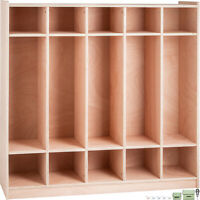 Preschool Cubby Locker Storage Cabinet Coat Locker 5-Section Toddlers and Kids