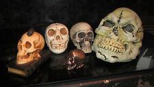 More details for skulls horror haloween etc x5 6-16cm  mixed lot resin plastic metal