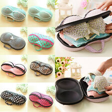 Underwear Case Travel Protect Bra Storage Bag Box Container Portable Pink dots