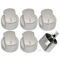 6 x STOVES Genuine Oven Hob Knob Switch Silver 444445538 444445573 61DFDO 61GDO